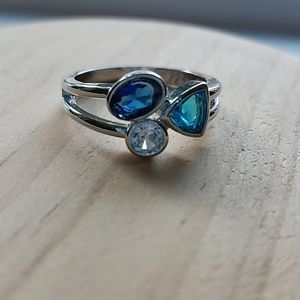 Sterling Ring Silver Blue Topaz Size 8 Gemstone